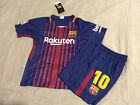 Barcelona Messi Home Kids Set Kit Youth Boys Child Soccer Jersey Small 8 9 yrs