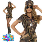 Ladies Army Girl Costume Sexy Camo Playsuit Soldier Uniform Fancy Dress Outfit