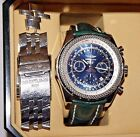 Breitling Bentley Stainless Steel Chronograph Men's Wristwatch with Box
