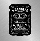 Wrangler Tj Vinyl Decal Sticker Jeep Unibody Built Not Bought Wave Jack Daniels