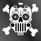 Jeep Sugar Skull Vinyl Decal Sticker Wrangler Cherokee Renegade Funny Offroad