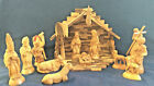 PERFECT 11 OLIVE WOOD HAND CARVED NATIVITY FROM NAZARETH 15 PCS