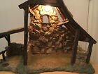 Lighted Stable 50154 for 5 Fontanini Heirloom Nativities 1996 Roman RARE