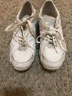 Adidas white cheer shoes girls size US 45 Cheer leading