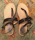 Belle by Sigerson Morrison Black Leather Thong Sandals Size 11 NEW