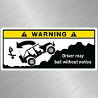 Jeep Warning Bail Vinyl Decal Sticker Wrangler Cherokee Renegade Funny Offroad