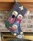 Darling Handmade Quilted Nativity Christmas Stocking Country Stars Lace