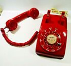 Western Electric Vintage Red Rotary Dial Desk Telephone Model C D 500