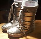 Womens Silver Sugar Slip on Snow boots US size 65
