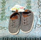 NWT Wee Kids 6 9 Months Crib Shoes Unisex Grey Lace Up Baby New Boy Girl Size 3
