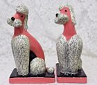Vintage Pair of Hedi Schoop French Poodle Figurines 12 Made in California