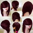 Medium Side Flip Part Layered Straight Inverted Bob Synthetic Wig