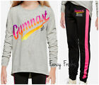 JUSTICE Girls Gymnast Shirt  Leggings Set NEW 10 Outfit
