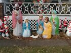 General Foam LIFE SIZE Lighted Giant Blow Mold Nativity Set 6 Piece
