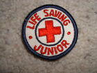 Vintage Life Saving Junior Red Cross patch embroidered 2