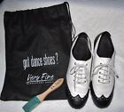 Womens VERY FINE East Coast Swing Salsa Ballroom Dance Shoes Heel 15 size 8
