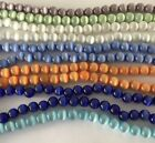round glass catseye beads cats eye cat all colors sizes 8mm 6mm 4mm fiber optic