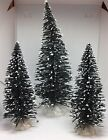 Lemax Lot Of 3 Christmas Village Accessories Trees Pine Plants Snow