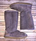 Girls Purple Lavender Suede Classic Tall Uggs 4