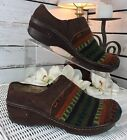 Born Womens Clogs Mules Southwest Indian Blanket Multi Color Leather Tribal 85