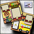 School Days 2 premade scrapbook pages Paper Printed layout Boy layout by cherry