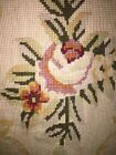 """""""x33"""" Floral Cream Yellow HAND KNOTTED WOOL AUBUSSON NEEDLEPOINT RUG"""