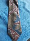 Isaco Mens Classic 100 Silk Tie Made in Italy VINTAGE FLOWER BROWNREDTAN