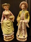 VTG  PAIR OF VICTORIAN PORCELAIN FIGURINES MAN AND WOMAN 9