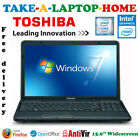 Toshiba C Series Laptop 156 Intel 22GHz 320Gb 4Gb Win7 Comes Boxed