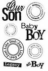 Scrappy Cat Clear Stamp Set BABY BOY Scrapbooking Stamping NEW