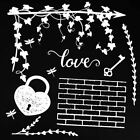 49 and Market 6 x 6 Chipboard Sets Love White