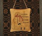 Primitive Stitchery Pillow/Ornament ~ Snowman, Sheep and Tree ~ Christmas/Winter