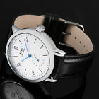 ESS Minimal White Mechanical Automatic Bauhaus Men's Watch Germany Blue Hand