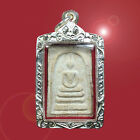 Amulet Thai Buddha Case Silver Plated Strong Phra Somdej Talisman Pendants Holy