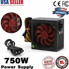 750W ATX PC Computer Power Supply PSU PFC 6 pin PCI E 12CM Red Fan HOT IN USA
