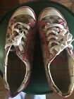 COACH Womens MIKA Signature CC Canvas  Pink LEATHER SNEAKERS Shoes Size 85