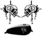 Set of (2) Gas Tank decals Harley Skull Custom Colorse bagger, softail, t16