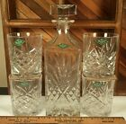 SHANNON CRYSTAL Designs of Ireland Hand Crafted Whisky Decanter  4 rocks glass