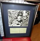 Chicago Cubs Prof Framed Harry Caray Autographed Signed Check with Photo