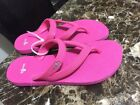 New Sanuk Thong Flip Flop Sandals Pink Rubber Womens Size 5 Double Strap Water