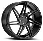 22 BLACQUE DIAMOND BD 1 GLOSS BLACK WHEELS FOR BENTLEY CONTINENTAL GT