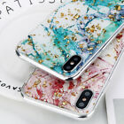 Bling Glitter Thin Soft TPU Silicone Marble Case Cover For iPhone X 8 7 6s Plus