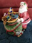 RARE~~FITZ & FLOYD CLASSIC (2004) OLD FASHIONED CHRISTMAS COOKIE JAR~~NEW IN BOX