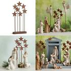 Holiday Christmas Willow Tree Metal Star Backdrop Nativity Scene Collection