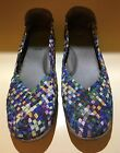 PREOWNED ZEE ALEXIS Multicolor Purple Weave Mary Jane Shoes SIZE 42 115