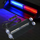 2 COB Red Blue Light Emergency Car Vehicle Warn Strobe Flash Brighter than LED