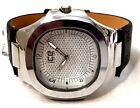 Men Casual Watch Ice Master BM1301 Black Leather Band, Dress Fashion Watch 1 ATM