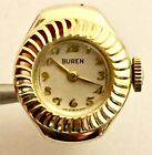 Ring Watch With New Case And Vintage 17 Jewel Buren Swiss Watch Movement