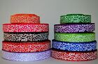 10 yds 7 8 Grosgrain Ribbon Mixed Lot Printed Swirls  Chevron Pattern Q11