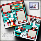 Winter Snow 2 premade scrapbook pages paper piecing printed layout by c